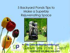 Garden and Pond Depot Water Fountains, Ponds Backyard, Amazing, Garden, How To Make, Water Sources, Fuentes De Agua, Garten, Lawn And Garden