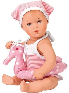 Bath Baby Trixi by Kathe Kruse. Best Baby Doll, Cute Baby Dolls, Cute Babies, Disney Cars, Toddler Toys, Baby Toys, Bath Doll, Engineer Prints, Soft Towels