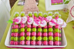 French Open tennis Themed Birthday Party - Tennis Gum Ball Favors