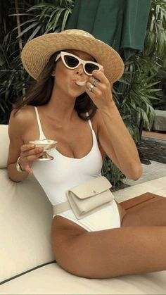 Pool Outfits, Hot Summer Outfits, Summer Vacation Outfits, Bikini Outfits, Outfits With Hats, Cancun Outfits, Summer Wear, Spring Summer Fashion, Mexico Beach Outfits