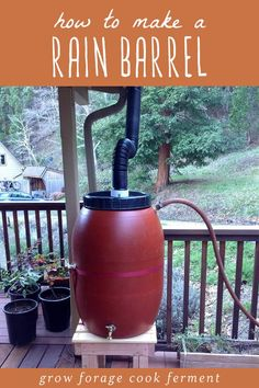 Spring is coming, and that means rain! Time to start collecting your own rainwater. In this post youll learn how to make an easy DIY rain barrel for collecting and store rainwater. #homesteading #diy