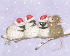 """Season's ""Tweetings""."" from House-Mouse Designs®. This item was recently purchased off from our web site. Click on the image to see more information."