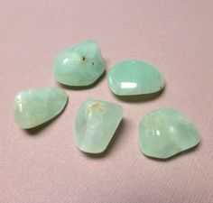 Tumbled Prehnite. Large. Green. Tumbled Stone. Crystal. Wicca. Gemstone Un-drilled. Wire Wrapping. 15mm x 21mm - 24mm x 26mm. One (1) by trunksale on Etsy