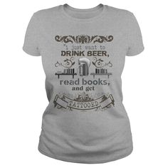 I Just Want To Drink Beer, Read Books and Get Tattoed - Ladies Tee - Sports Grey