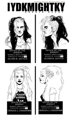 Breaking the law | Judas Priest Drew my characters mugshots Oliver Aattila and Veruca Von Grimm the criminal couple lol drawing the hot mess hair was my favorite part Stay shanty my friends <3 m...