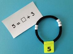 Check out Number Bracelets!  An easy DIY and a great way to work on composing and decomposing numbers.
