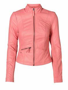 Pink Power for Pink Ladies! VERO MODA POWERS SHORT PU JACKET! #veromoda #pink #jacket #fashion #power @Veronica MODA