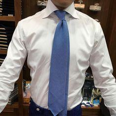 Blue & white. #men #menstyle #menswear #mensfashion #napoli #sprezzatuza #mensclothing #bespoke #dandy #gentleman #mensaccessories #mensstyle #tailor #milano #fashion #menwithclass #italy #style #styleformen #wiwt #suit #dapper #menwithstyle #ootd #daily #moda #stile #elegance #classy #mnswr
