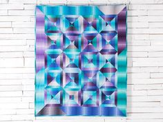 Split Square Jewel Quilt Kit by Monique Jacobs featuring Boundless Ombre Jewel | Craftsy