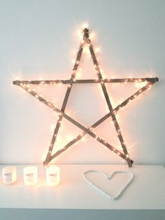 stars, I want one of these! Winter Christmas, All Things Christmas, Xmas, Diy Inspiration, Christmas Inspiration, Star Decorations, Christmas Decorations, Dyi, Jingle All The Way