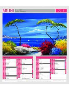 Calendrier bloc agrafés ERIC BRUNI 2018 Desktop Screenshot, How To Plan, Art, Personalised Calendar, Figurative, Art Background, Kunst, Performing Arts, Art Education Resources