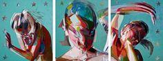 "Saatchi Art Artist: Simon Birch; Oil Painting ""Tractor (Tryptic)"""