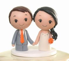Custom Wood Wedding Cake Topper - Peg Doll Bride and Groom Topper - Kokeshi Doll Topper - by CakeToppersStudio on Etsy https://www.etsy.com/listing/80959762/custom-wood-wedding-cake-topper-peg-doll