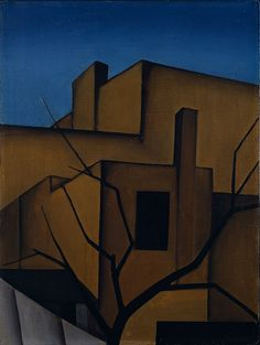 George Ault, Back of the House, 1923