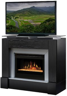 Dimplex Jasper Media Console Electric Fireplace GDS25-1412B Fireplace media center | seattleluxe.com