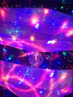 One if the best DIY sensory rooms on a budget I've seen. Here voile with LED fairylights. Made by Irish Autism Action
