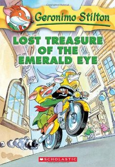 "Lost Treasure of the Emerald Eye (Geronimo Stilton, No. 1)  book  ""Meet Geronimo Stilton, the not-so-intrepid reporter who gets caught up in adventure after adventure. Oh yes, he happens to be a...""  #reluctant #readers"