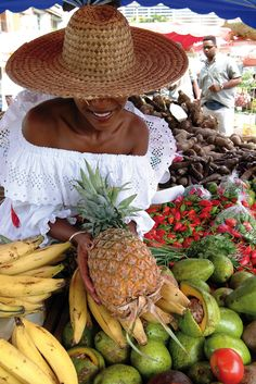 Sweet, Spicy, Smooth & Savoury Sweet~the pineapple & ripe plantains, spicy~the peppers , smooth~the best avocados/pears you'll ever have & savoury - the taste of the Caribbean! Caribbean Carnival, Caribbean Sea, Jamaica, Ripe Plantain, French Creole, Windward Islands, Caribbean Culture, Sainte Lucie, Carnival Festival