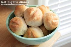 french bread rolls // last night's dinner