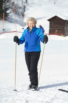 Princess Beatrix of The Netherlands attends a Photo Session, during her annual winter ski holiday, on 23.02.2015 in Lech, Austria.