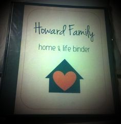 "Free printable - Home & Life binder cover sheet ""Our Family"""