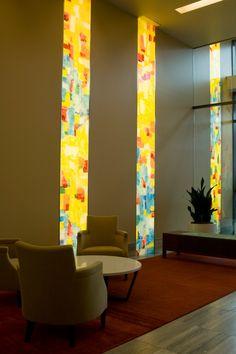 Martha Pfanschmidt panels at The Casey Building, Portland, Oregon