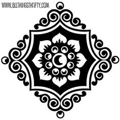 Free stencil pattern. Make your own stencil using clear plastic file folders.