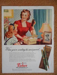04571a65f52b1 1944 Parker Pen magazine ad Vacumatic