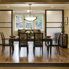 Folding Doors Dining Room Design Ideas, Pictures, Remodel and Decor