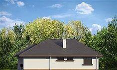 Projekt Dom na miarę 102,15 m2 - koszt budowy 208 tys. zł - EXTRADOM Four Bedroom House Plans, Family House Plans, Dream House Plans, My Dream Home, Classic House Exterior, Modern Farmhouse Exterior, Residential Building Design, House Outside Design, Modern House Facades