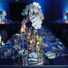 Did someone say something blue?  we are obsessed with this incredible design from @mrbreckbouchard of @bondgroupluxuryweddings  such a cool blue atmosphere for guests!  featuring our mirrored estate tables  set up at the very trendy @editionhotels miami beach || #nuagedesigns #bluemonday #mondaymotivation #weddingflowers #weddinginspiration #orchids #miamibeachwedding #miamieventplanner #miamibride #editionhotel #somethingblue #luxury #wedding #love by nuagedesignsinc