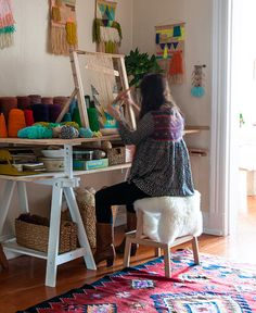 Maryanne Moodie on Design Sponge http://www.designsponge.com/2014/05/a-textile-designer-at-home-in-brooklyn.html