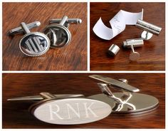 Engagement Gifts For Him, Personalized Gifts, How To Memorize Things, Cufflinks, Accessories, Personalised Gifts, Ornament