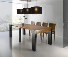 Mesa consola extensible en madera de cerezo extensible for Mesa 2 metros comensales