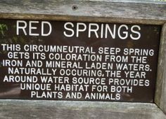 Red Springs Signage - Whitewater State Park in Indiana Water Signs, Water Walls, Water Sources, State Parks, Habitats, Indiana, Signage, Red, Fuentes De Agua