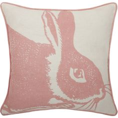 Thomas Paul Bunny Linen Throw Pillow ($88) ❤ liked on Polyvore featuring home, home decor, throw pillows, pillows, furniture, decor, patterned throw pillows, rabbit throw pillow, thomaspaul and textured throw pillows