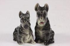 Scottie Dog Vtg Salt Pepper Shakers Ceramic Scottish Terrier Marked 'Japan'