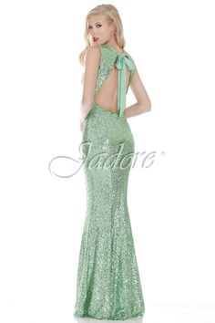 J6032 in Apple, glitter gown for prom.  Available in sizes 2-30 www.jadoreevening.ca for a full listing of boutiques that carry our collections in Canada contact us directly for USA boutiques!