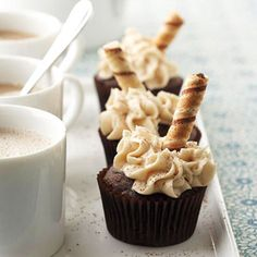 Mochaccino Cupcakes From Better Homes and Gardens, ideas and improvement projects for your home and garden plus recipes and entertaining ideas.