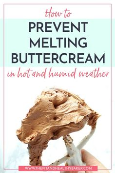 How to Prevent Melting Buttercream in Hot and Humid Weather Is the summer heat creating a buttercream disaster for you? Click through for tips on How to Prevent Melting Buttercream in Hot and Humid Weather. Frosting Tips, Cupcake Frosting, Cake Icing, Frosting Recipes, Buttercream Frosting, Cupcake Cakes, Wedding Cake Frosting, Buttercream Decorating, White Chocolate Buttercream