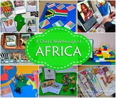 A Child's walkthrough of Africa -- Montessori geography Continents Activities, Learning Activities, Africa Activities For Kids, Diversity Activities, 7 Continents, Geography For Kids, Geography Lessons, Safari Tattoo, Africa Craft