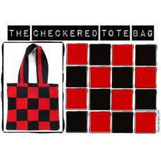 Red Checkered Tote Bag Red Bag Fashion Trendy Hipster Mod Tote Bag... ($20) ❤ liked on Polyvore featuring bags, handbags, tote bags, red checkered tote bag, red tote bag, shoulder strap tote bags, red tote, shoulder strap bags and tote purses