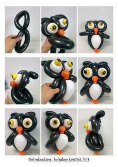 Owl balloon sculpture
