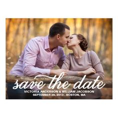 Vintage Wedding Save the Date SAVE OUR DATE | SAVE THE DATE ANNOUNCEMENT POSTCARD
