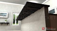 Knee wall countertop support bracket granite countertop for Knee wall support