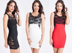 """""""Flowery Life"""" .. our Floral Lace Tank Dress- available in 3 colors!  Which color do you prefer?  ➡ www.LeVixen.com  #LeVixen #womensfashion #dresses #lace #florals #ootd #style #fashion #TGIF Women's Dresses, Formal Dresses, Style Fashion, Womens Fashion, Lace Tank, Tgif, Tank Dress, Floral Lace, Florals"""