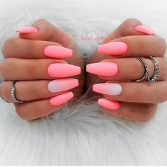 Are you looking for summer nails colors designs that are excellent for this summer? See our collection full of cute summer nails colors ideas and get inspired! Coffin Nails Matte, Pink Acrylic Nails, Matte Pink Nails, Matte Nail Polish, Glitter Nails, Pink Sparkle Nails, Matte Nail Colors, Pretty Nail Colors, Pink Nail Art