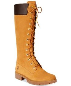 "Timberland Women's 14"" Premium Lace-Up Boots | macys.com"