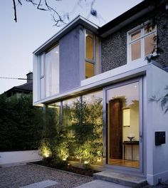 to a semi-detached House in Galway by Simon J. Flat Roof House, House Siding, Semi Detached, Detached House, Bauhaus, Extension Designs, Extension Ideas, Bungalow, Dublin House
