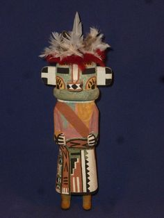 "REMARKABLE OLD STYLE HOPI INDIAN ""BEAR"" KACHINA BY AWARD WINNER BRIAN HOLMES"